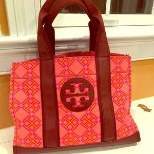 Pink Canvas Tory Burch Tote